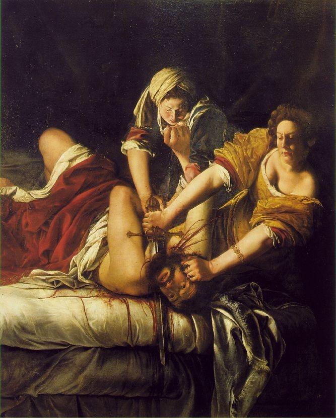 Artemisia Gentileschi Pintora del siglo xvii que se pintaba asesinando al macho que la violo a los 19 años.
