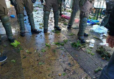 [Audio-Videos] Represión y violencia policial racista contra comerciantes y hortaliceras mapuche.
