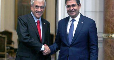 Piñera y Juan Orlando Hernández en el cambio de mando de Chile, Marzo 2018