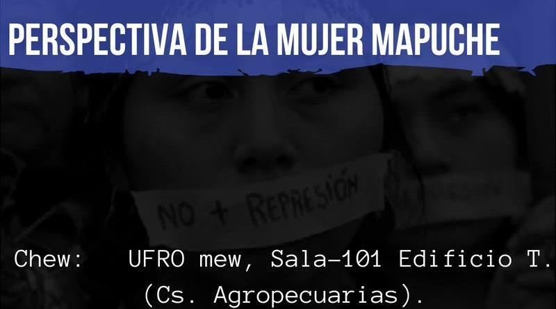 Realizarán foro sobre violencia de género desde la perspectiva de la mujer mapuche.