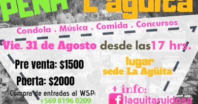 Afiche de la peña de la radio comunitaria Laguita Ruidosa