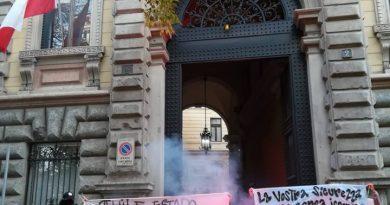 [Milán] Protestan en consulado chileno por asesinato de Camilo Catrillanca