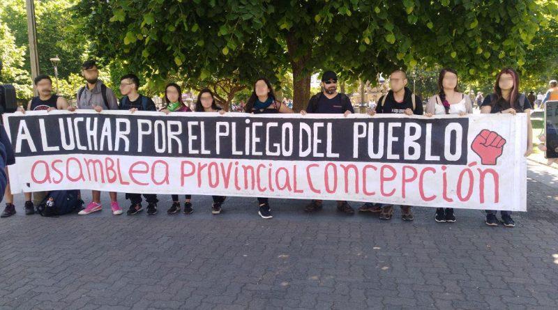 Asamblea Provincial de Concepción en Plaza de la Independencia