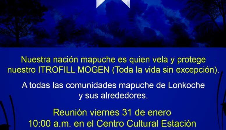 Convocan a Reunión Comunidades Mapuche de Longkoche y sus Alrededores.