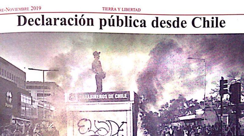 Reflexiones sobre la revuelta: Declaración publica desde Chile