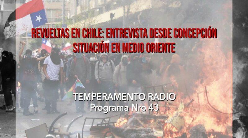 [Podcast] Revuelta en Chile: entrevista desde concepción