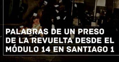 [Santiago] Palabras de un preso de la revuelta