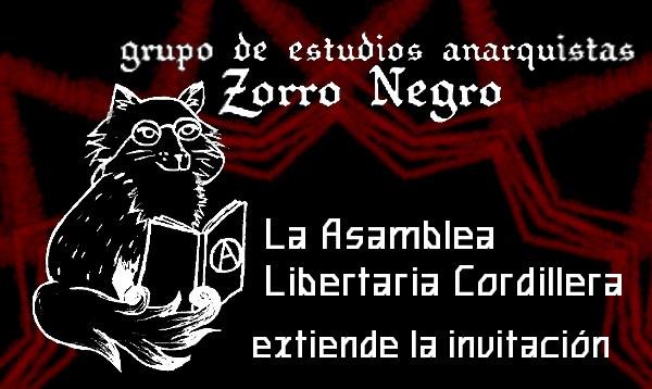 «Zorro Negro»: crean grupo de estudios anarquistas