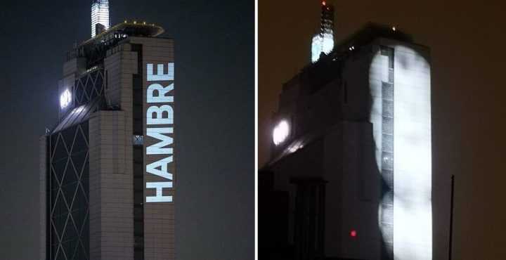 Declaración Pública de Delight Lab; ante la censura y amenazas recibidas por proyectar «Hambre» y otras acciones lumínicas en edificios de Santiago.