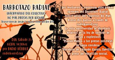 Barrotazo Radial #1 – Informativo del colectivo No Mas Presxs Por Luchar