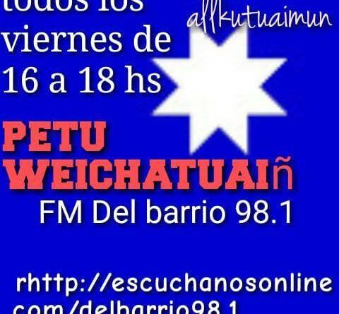 [Escucha y descarga] Petu Weichatuaiñ – Nuevo programa radial Mapuche desde Puelmapu