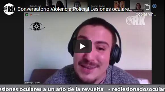 [Video Conversatorio] Violencia Policial en Chile-Lesionados oculares a un año de la revuelta