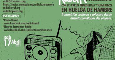 Cadenazo Radial Por La Libertad de Lxs Presxs en Huelga de Hambre desde el 22 de marzo
