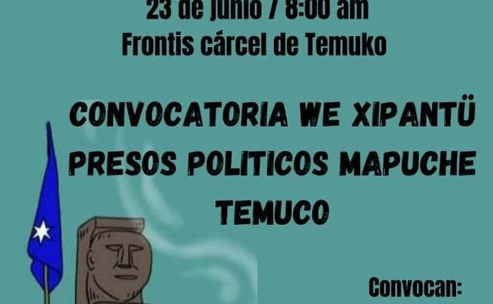 Presos Políticos Mapuche convocan Wiñoy Tripantu en cárcel de Temuco