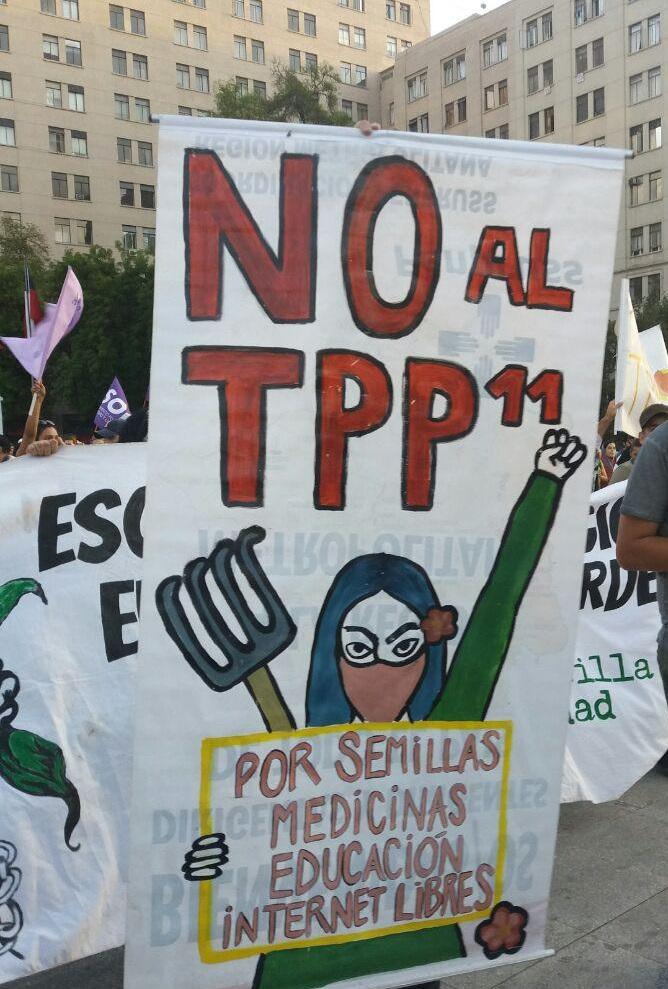 En seis ciudades realizaron manifestaciones en rechazo al TTP-11 que se firmará en Santiago – Radio Kurruf