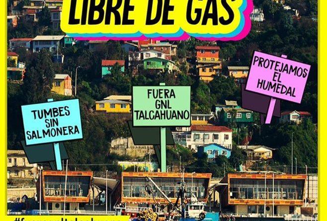 Convocan a marcha en Talcahuano por una bahía libre de gas