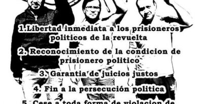 [Comunicado] Presos políticos lautarinos inician huelga de hambre líquida indefinida
