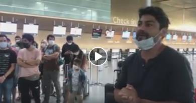 Comunidad chilena varada en aeropuerto de Bogotá exige soluciones