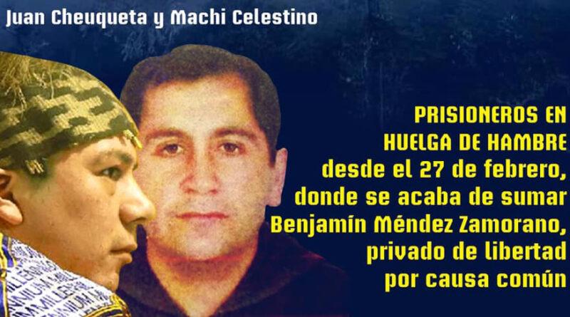 Día 11 – En huelga de hambre están los presos políticos mapuche y comunes de la cárcel de Temuko