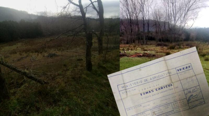 Lican Ray: Comunidad Tomas Cañicul denunció fraudulento apropiamiento de sus tierras por particulares a través de engaños